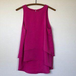 LULU'S Hot Pink Double Layer Sleeveless Tank Top M